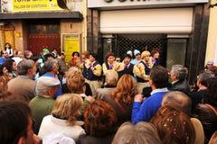 Eine Chorleistung der Straße, Karneval von Cadiz, Andalusien, Spaina Stockfotos