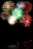 Eine Collage der Feuerwerke Stockbild