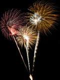 Eine Collage der Feuerwerke Lizenzfreie Stockfotografie