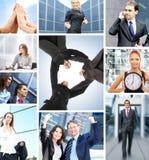 Eine Collage von Geschäftsleuten in der Abendtoilette Lizenzfreie Stockfotografie