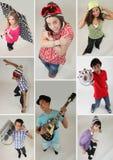 Eine Collage von Jugendlichen Stockfoto