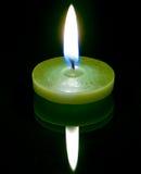 Eine conflagrant Kerze Lizenzfreie Stockfotografie