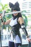 Eine cosplay Haltung des nicht identifizierten japanischen Anime lizenzfreie stockbilder