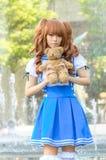 Eine cosplay Haltung des nicht identifizierten japanischen Anime lizenzfreie stockfotos