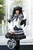 Eine cosplay Haltung des nicht identifizierten japanischen Anime stockfotografie
