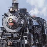 Eine Dampfmaschine sitzt auf Anzeige in Williams, USA Lizenzfreies Stockfoto
