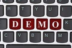 Eine Demo im Internet tun lizenzfreies stockfoto