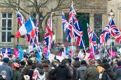 Briten-Unterstützung Lizenzfreies Stockfoto