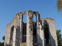 Eine der Ruinen von Visby auf Gotland Lizenzfreies Stockfoto
