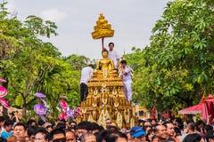 Eine der Traditionen von Nord-Thailand lizenzfreie stockbilder