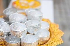 Eine der Traditionen von Nord-Thailand Lizenzfreies Stockfoto