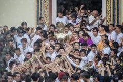 Eine der Traditionen von Nord-Thailand stockbild