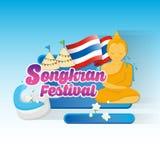 Eine der Traditionen von Nord-Thailand Es ist thailändische Kultur über Wasser-Festival im April Stockfotografie