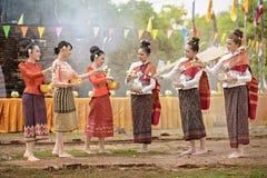 Eine der Traditionen von Nord-Thailand lizenzfreies stockbild