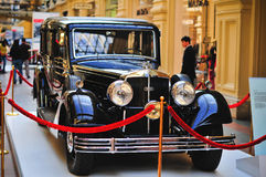 Eine deutsche Auto Horch 830 Limousine Querstation Pulman ausgestellt in der TURNHALLE, Moskau Lizenzfreie Stockbilder