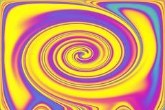 Eine digitale Illustration, die pansexual Farben oder Themen anzeigt stockfoto