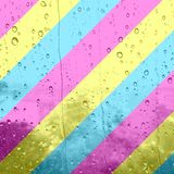 Eine digitale Illustration von den Streifen, die pansexual Farben anzeigen oder stockfoto