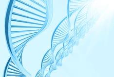 Eine DNA im medizinischen Hintergrund stock abbildung