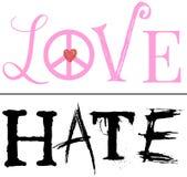 Eine dünne Linie zwischen Liebe und Hass Stockfotos