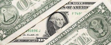 Eine Dollar Begriffshintergrund Selektiver Fokus im Gesicht Lizenzfreie Stockfotografie