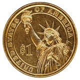 Eine Dollar US-Münze Stockbilder