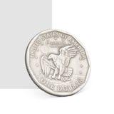 Eine Dollarmünze. Stockbild