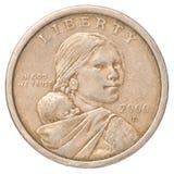 Eine Dollarmünze Stockbild