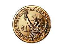 Eine Dollarmünze Stockfotografie