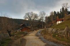 Eine Dorfstraße Lizenzfreies Stockfoto