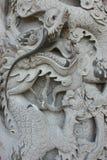 Eine Dracheskulptur Stockfotografie