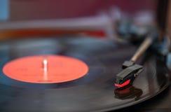 Eine Drehscheibe- und Vinylaufzeichnung stockfoto