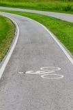 Eine Durchgangsstraße für nur für Fahrrad Straßen Stockbilder