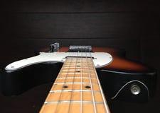 Eine E-Gitarre von oben Lizenzfreies Stockfoto