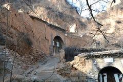 Eine Ecke des alten Dorfs in der Lös1-Hochebene, Shanxi, China Stockbild
