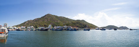 Eine Ecke von Binh Ba Island in Vietnam lizenzfreie stockfotos