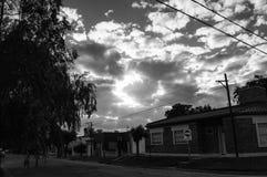 Eine Ecke von meinem neightbourhood Stockbild
