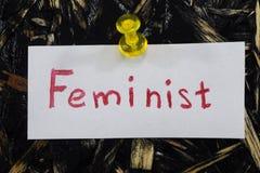 Eine einfache und verständliche Aufschrift, feministisch lizenzfreie stockbilder