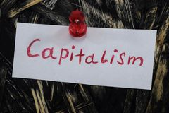 Eine einfache und verständliche Aufschrift, Kapitalismus lizenzfreie stockfotos