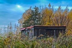 Eine einsame Hütte Stockfoto