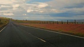 Eine einsame Straße in Süd-Schottland Lizenzfreie Stockfotografie