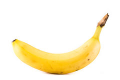 Eine einzelne Banane Stockfoto