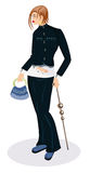 Eine elegante Frau Lizenzfreies Stockbild