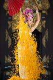 Eine elegante Lanna-Frau ChiangMai Nord-Thailand Lizenzfreies Stockbild