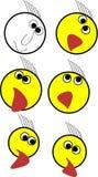 Eine emoji gesetzte Illustration für irgendwelche apps vektor abbildung