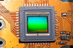 Eine empfindliche Matrix der digitalen Fotokamera Stockfotografie