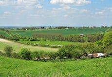 Eine englische ländliche Landschaft in den Chiltern-Hügeln Stockfotografie