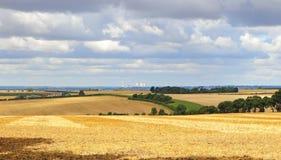 Eine englische landwirtschaftliche Landschaft in den Chiltern Hügeln Stockbild