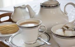 Eine englische Tasse Tee stockbild