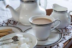 Eine englische Tasse Tee stockfotos