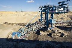 Eine enorme Bergwerksmaschine Lizenzfreie Stockfotografie